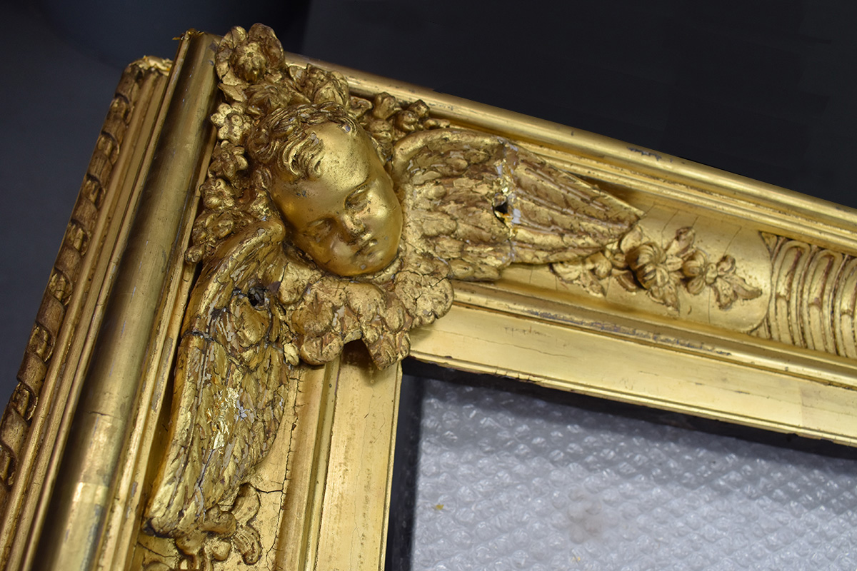 Detail of existing cherub used for casting