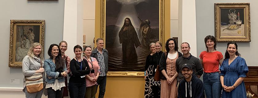 Artlab staff at Tarnanthi 2020 at Art Gallery of SA