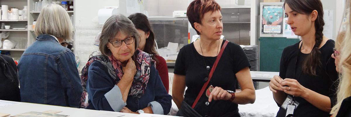 Photo of Print Council of Australia tour of Artlab