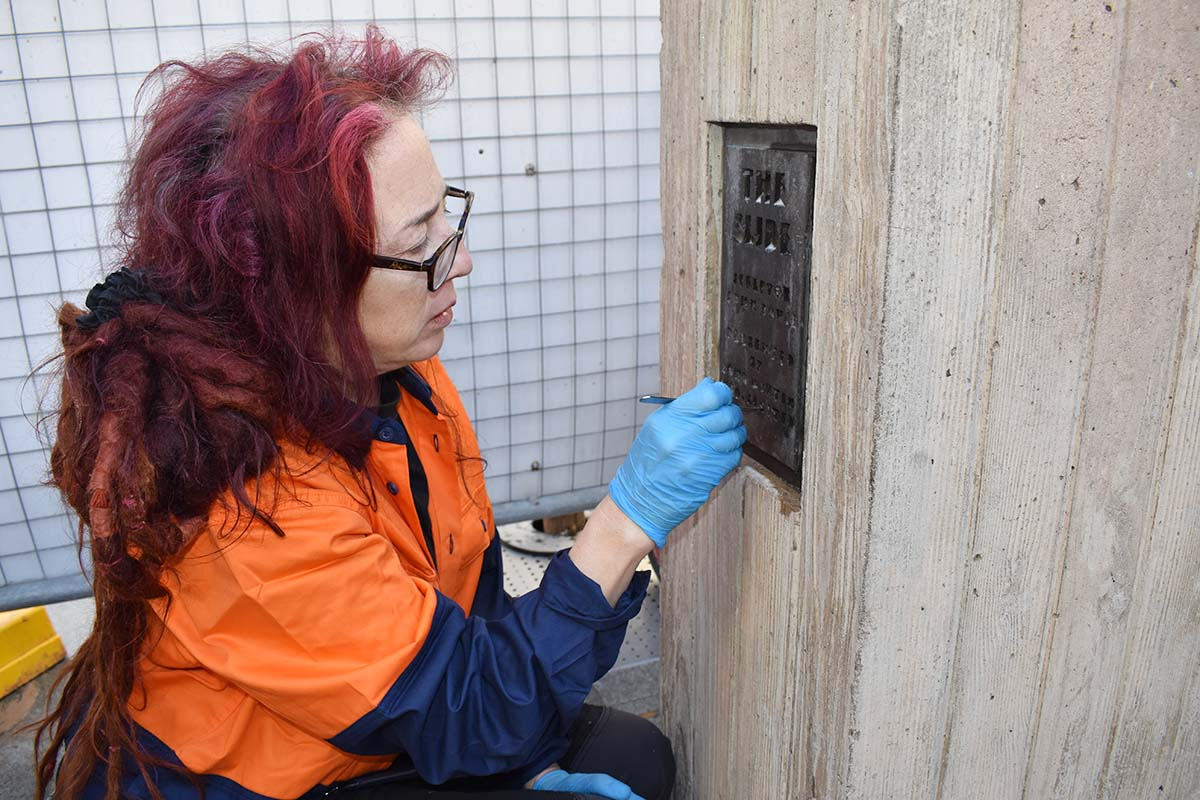 Conservator cleaning panel